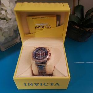 BNIB Invicta Men's Watch Silver & Rose Gold